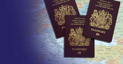 Hình màu vàng dưới chữ passport là logo nhận diện hộ chiếu điện tử.