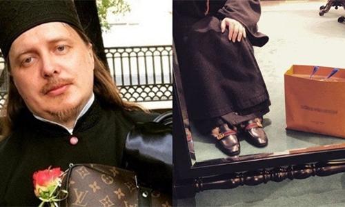Mục sư Baskakov chia sẻ những hình ảnh giày và túi xách cao cấp trên Instagram. Ảnh: Instagram