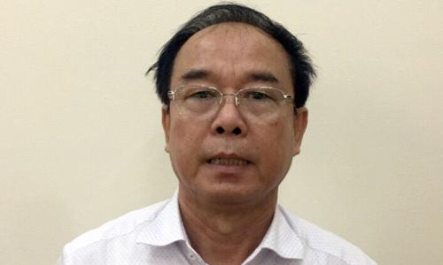 Ông Nguyễn Thành Tài (tức Tư Huy) tại cơ quan điều tra. Ảnh: Bộ Công an.
