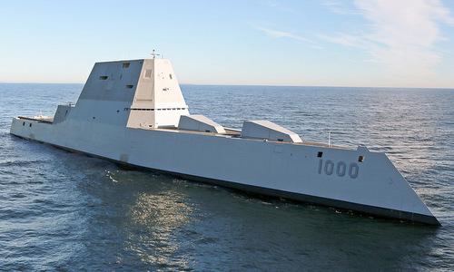Tàu khu trụcUSS Zumwalt. Ảnh: US Navy.