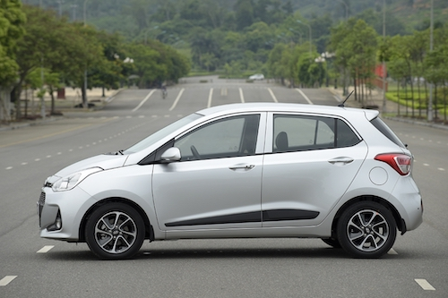 Hyundai Grand i10 tại Hà Nội. Ảnh: Thắng Trần.