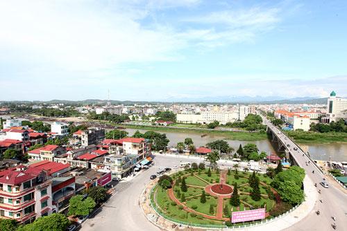 Một góc của thành phố trực thuộc tỉnh rộng nhất cả nước.