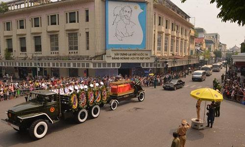 Bộ Quốc phòng ban hành quy định về đoàn xe phục vụ Quốc tang