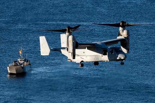 Mẫu máy bay V-22 Osprey của Mỹ. Ảnh: AFP.