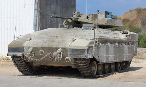 Xe chiến đấu Namer phiên bản mới của Israel. Ảnh: BQP Israel.