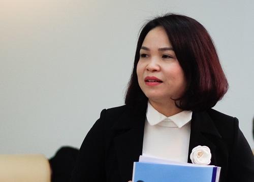 Cô Đỗ Thị Mai, hiệu trưởng trường Tiểu học Dịch Vọng B. Ảnh: Dương Tâm