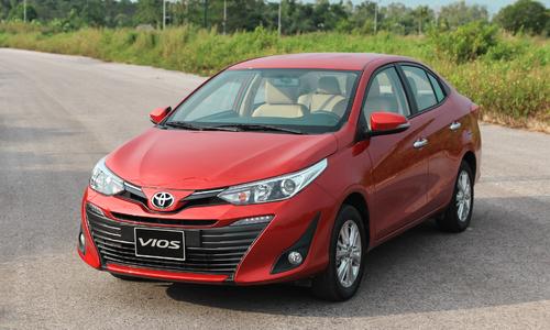 Toyota Vios thế hệ mới tại Hà Nội. Dòng xe này nhận được ưu đãi khi mua trong tháng 12. Ảnh: Đức Huy