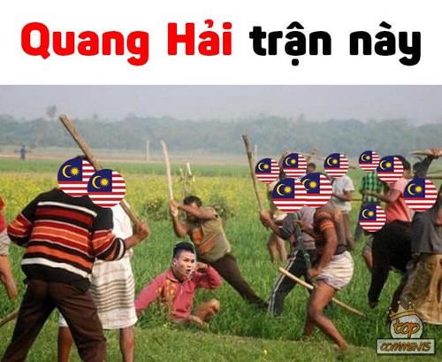 Quang Hải trong trận chung kết lượt về.