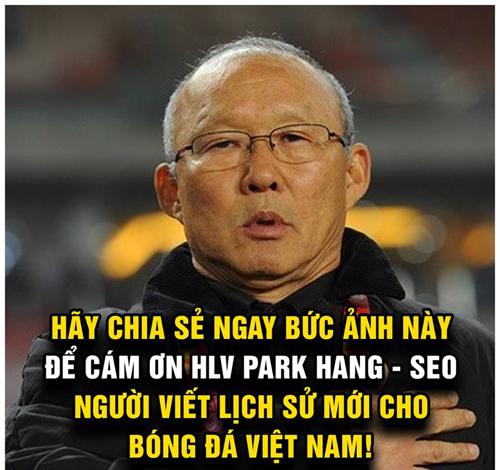... Hãy cám ơn vị HLV Park Hang-seo.