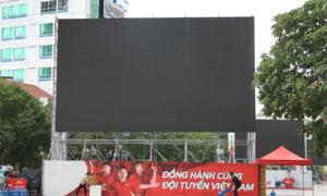 Nhiều nơi tại Sài Gòn lắp màn hình xem trận chung kết AFF Cup