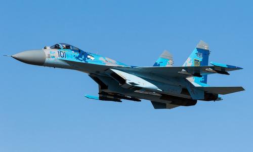 Một tiêm kích Su-27 trong biên chế không quân Ukraine. Ảnh: Airliners.