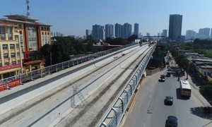 Đường sắt 36.000 tỷ đồng ở Hà Nội sắp hoàn thành đoạn trên cao