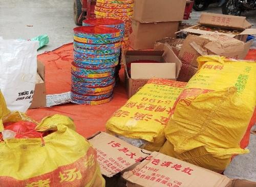Cảnh sát bắt giữ nhóm thanh niên vận chuyển gần 400 kg pháo