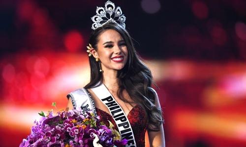 Catriona Gray đăng quang Hoa hậu Hoàn vũ ngày 17/12. Ảnh: AFP.