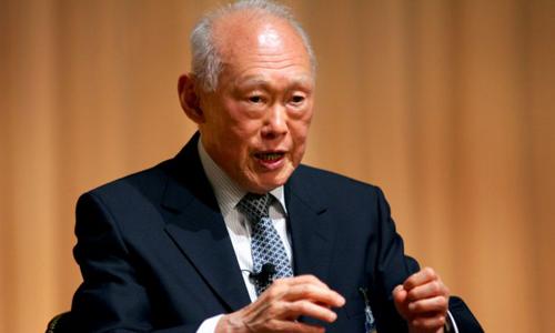 Cố thủ tướng Singapore Lý Quang Diệu. Ảnh: Reuters.