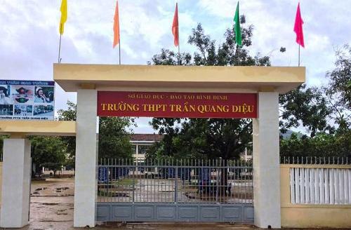 Trường THPT Trần Quang Diệu. Ảnh: Thạch Thảo.