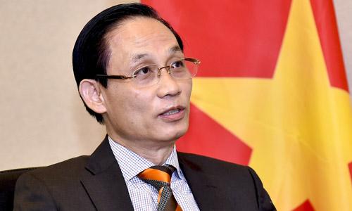 Thứ trưởng Ngoại giao Lê Hoài Trung. Ảnh: Hà Trung.