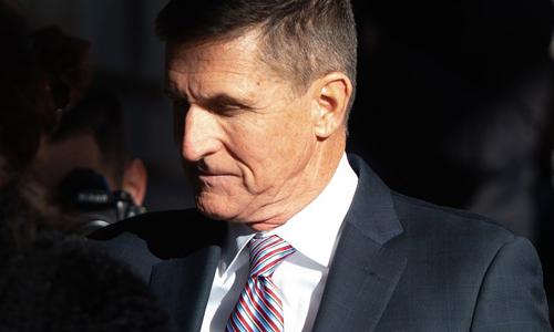 Cựu cố vấn an ninh quốc gia Mỹ Michael Flynn tới phiên tòa tại thủ đô Washington hôm 18/12. Ảnh: AFP.
