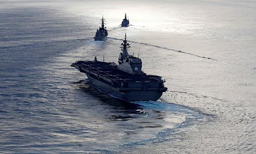 Tàu sân bay trực thăng Kaga của hải quân Nhật Bản. Ảnh: Reuters.