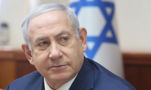 Thủ tướng Netanyahu trong cuộc họp nội các Israel giữa năm nay. Ảnh: Jerusalem Post.