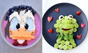 Bà mẹ Australia biến đồ ăn của con thành nhân vật hoạt hình