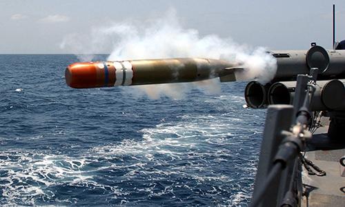 Ngư lôi huấn luyện Mk. 46 Mod 5A rời ống phóng. Ảnh: SF.