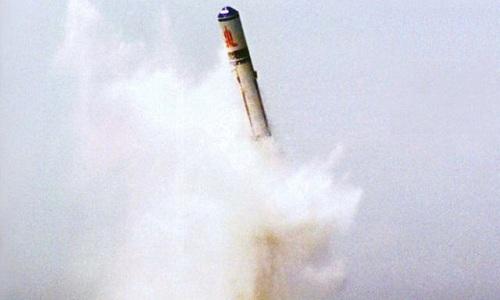 Tên lửa đạn đạo phóng từ tàu ngầm JL-2 của Trung Quốc. Ảnh: Indian Defense.