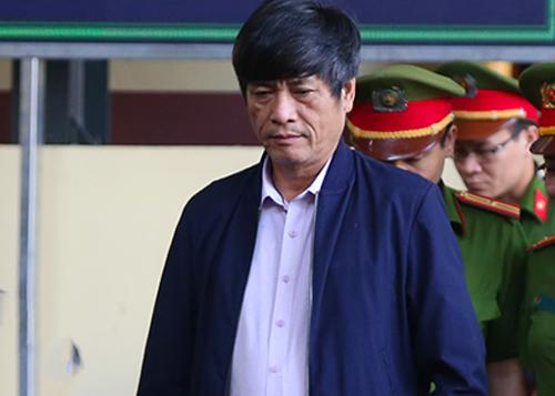 Cựu cục trưởng Nguyễn Thanh Hóa hầu tòa tháng 11/2018. Ảnh: Giang Huy.