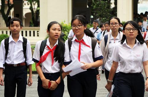 Học sinh thi tuyển vào lớp 10 chuyên tại TP HCM năm học 2018-2019. Ảnh: Mạnh Tùng.
