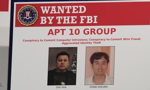 Ảnh nhóm tin tặc APT 10 gồm hai công dân Trung Quốc do Bộ Tư pháp Mỹ hôm qua công bố. Ảnh: AP.