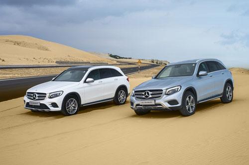 Hai mẫu xe dòng GLC của Mercedes tại Việt Nam.