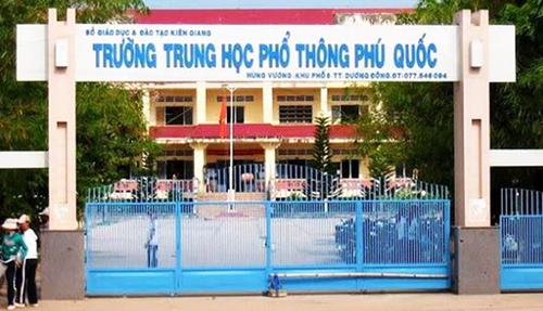 Trường THPT Phú Quốc - nơi xảy ra sự việc. Ảnh: An Thới.