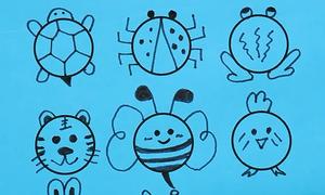 Dạy trẻ cách vẽ con vật sáng tạo với chữ số và hình tròn