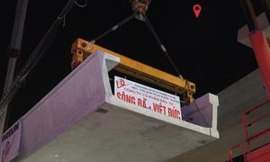 Đường sắt Nhổn - ga Hà Nội ghép dầm cuối tuyến trên cao