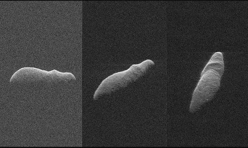 Tiểu hành tinh 2003 SD220 trong ảnh radar của NASA. Ảnh: Space.