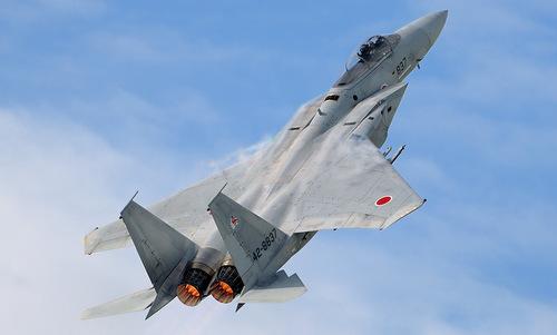 Tiêm kích F-15J Nhật Bản biểu diễn khả năng cơ động. Ảnh: Airliners.