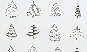 16 cách vẽ cây thông Noel đơn giản