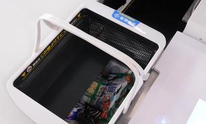 Giỏ hàng tự đóng gói và tính tiền trong siêu thị Nhật Bản