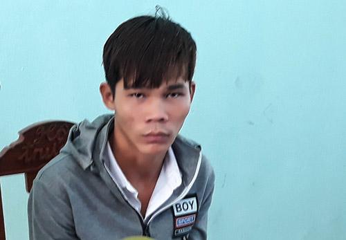 Nguyễn Văn Phước tại cơ quan công an. Ảnh: Đại Hiệp.