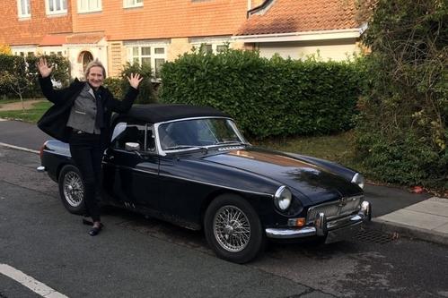Chiếc xe đã được trả lại cho chủ nhân. Ảnh: Kay Pinnock.