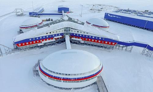 Một căn cứ quân sự của Nga trên đảo Alexandra. Ảnh:Sputnik.