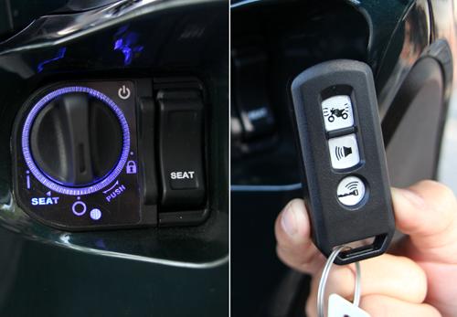 Ổ khóa và chìa thông minh của SH.