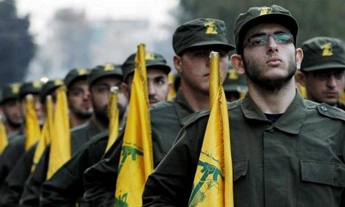 Lực lượng dân quân Hezbollah do Iran hậu thuẫn. Ảnh: Al-Awsat.