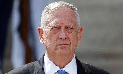 Bộ trưởng Quốc phòng Mỹ Jim Mattis. Ảnh: AFP.