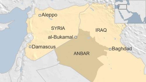 Vị trí tỉnh Anbar, Iraq. Đồ họa: BBC.