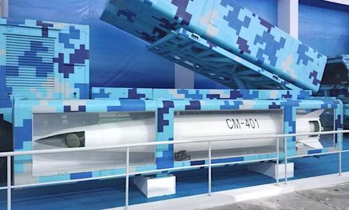 Mô hình tên lửa CM-401 và bệ phóng được giới thiệu hồi tháng 11. Ảnh: Sina.