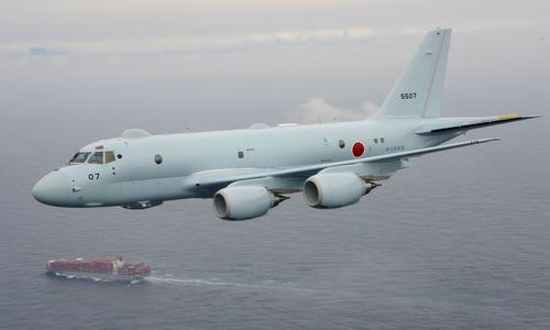 Một trinh sát cơ P-1 Nhật trong một chuyến bay tuần tra năm 2017. Ảnh: JMSDF.