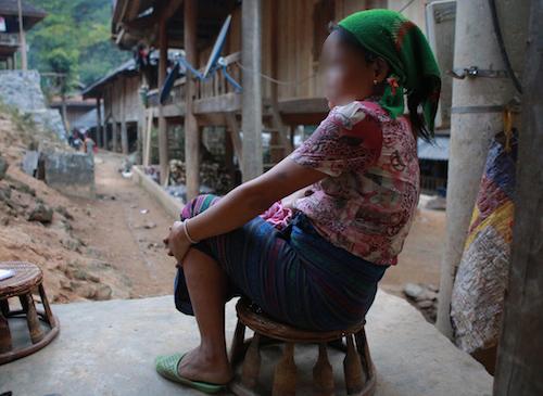 Chị Mạc Thị Hoa, người phụ nữ đã sang Trung Quốc bán bào thai một năm trước. Ảnh: Nguyễn Hải.