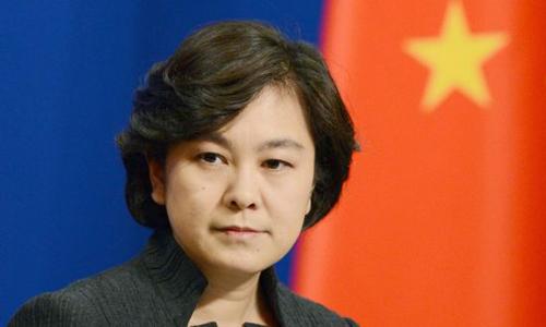 Phát ngôn viên Bộ Ngoại giao Trung Quốc Hoa Xuân Oánh. Ảnh: Kyodo.