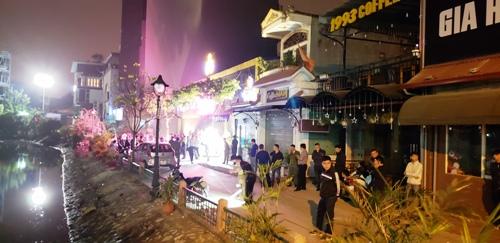 Khu vực đường vòng Hồ Sen- hiện trường vụ nổ súng bắn, đánh nhau khiến 2 thanh niên bị đâm chém trọng thương. Ảnh: Giang Chinh